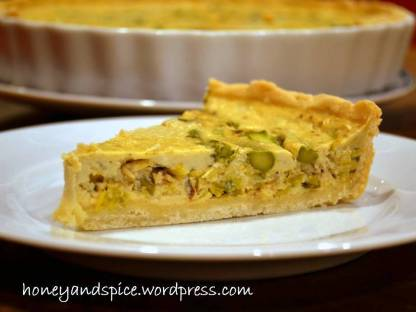 gf quiche leek and asparagus